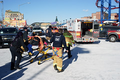 Ambulance (dtanist) Tags: nyc newyork newyorkcity new york city sony a7 konica hexanon 40mm brooklyn coney island polar bear plunge year 2018 ambulance paramedic emt