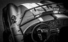 MOTORFEST '17 (Dave GRR) Tags: car auto vehicle cobra interior front windshield hood wheel steering classic american muscle antique collectible convertible show motorfest canada 2017 olympus omd em1 1240 white black mono monochrome
