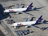FedEx MD-11F N592FE & N605FE (birrlad) Tags: losangeles lax international airport california usa aircraft aviation airplane airplanes airline airliner airways airlines parked ramp apron cargo terminal fedex freighter freight transport mcdonnell douglas md11f n605fe n592fe trijet