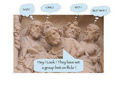 """Another """"group limit"""" joke... (godran25) Tags: flickr grouplimit limitedesgroupes stone sculpture cathédrale cathedral saint etienne auxerre bourgogne burgundy france joke humor fun funny humour blague sad triste omg wtf why"""