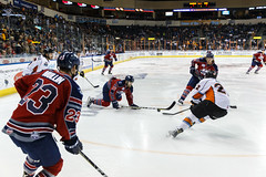"""Kansas City Mavericks vs. Kalamazoo Wings, January 5, 2018, Silverstein Eye Centers Arena, Independence, Missouri.  Photo: © John Howe / Howe Creative Photography, all rights reserved 2018. • <a style=""""font-size:0.8em;"""" href=""""http://www.flickr.com/photos/134016632@N02/25707995268/"""" target=""""_blank"""">View on Flickr</a>"""