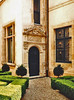 Luxembourg.  April 15th. 2002 (Cynthia of Harborough) Tags: 2002 architecture art carvings doorways entrances paths shrubs