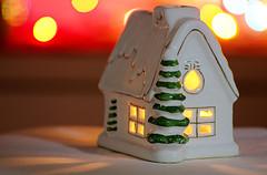 CASA DOLCE CASA. (FRANCO600D) Tags: litbycandlelight hmm macromondays contest macromondaystheme house home light bokeh christmas gadget stilllife canon eos600d sigma franco600d