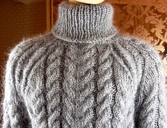 Mohair heavy turtleneck wool (Mytwist) Tags: mohair hand knitted silver gray cable knit neck sweater jumper tigrisina turtleneck rollneck style fashion fetish sexy wool heavy