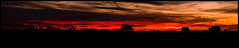 Violent Sunset prior to Demo (JBayPhotographie) Tags: red demolition housed house clouds silhouette nature shore grass pillar post roof glow