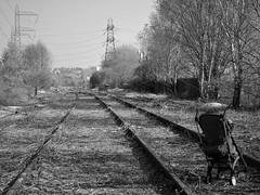 Cashmore's Siding (Jason_Hood) Tags: southstaffordshireline southstaffordshirerailway wednesbury goldshill abandoned disused railway railroad blackandwhite monochrome