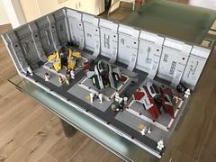 LEGO® Star Wars: Interceptor Starfighter Hangar 2.0 - 02 (jm_aalen) Tags: lego® moc afollu star wars starwars greebles starfighter space spaceship nurbies republic cockpit widget battle gunship interceptor hangar eta2 actis