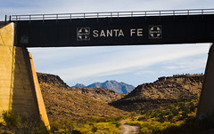 The Framing of the items I love. (Woodypug) Tags: landscape railroad route66 arizona atsf 01012018 bnsf beauty bridge mohave weather kirkwood canyon creation