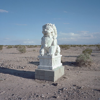 guardian lion / route 66. mojave desert, ca. 2014.