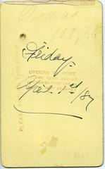 Thomas FTP00128_Back (Yarra Plenty Regional Library Local History) Tags: portrait yeoman handwriting proof
