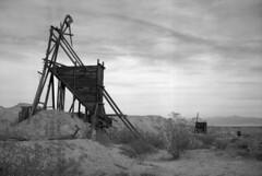 Somewhere in the Mojave Desert, CA (Mason Shefa) Tags: mason shefa desert abandoned mojave california mine town desolate black white film medium format fuji gw690ii rangefinder kodak aph 09 rondinax boron tmax