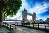 Running at Tower Bridge in London, United Kingdom (` Toshio ') Tags: toshio england unitedkingdom london towerbridge toweroflondon thamesriver river greatbritain british bridge clouds europe fujixt2 xt2 woman