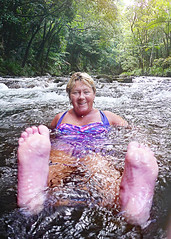 Mary cooling off in the rainforest (Mary&Neil) Tags: elements daintree rainforest canon maryneil
