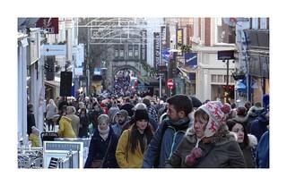 Christmas Shoppers (1). High Street. Lincoln. Dec 2017