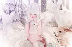 Winter Wonderland (Gabriella Marshdevil ~ Trying to catch up!) Tags: sl secondlife cute kawaii sweetthing doll halfdeer taketomi arcade gacha winter