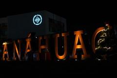 Anahuac University Puebla by night