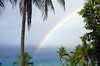 Double rainbow (Magryciak) Tags: 2017 niue travel trip holiday island islandlife tropic hot pacific sea ocean panasonic lumix water landscape view blue colour rainbow palm