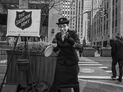 New York City, 2017 (Alan Barr) Tags: newyork newyorkcity manhattan salvationarmy rockefellercenter street sp streetphotography streetphoto blackandwhite bw blackwhite mono monochrome city candid people panasonic lumix gx85