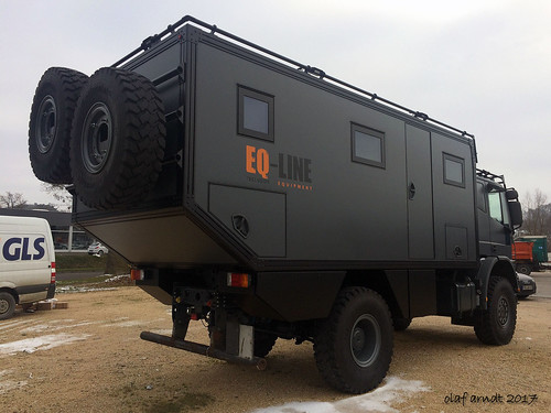 IVECO expedition vehicle back