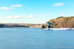 1-watermark (Brian M Hale) Tags: old stone church west boylston w wb wachusett reservoir wreath christmas holiday blue aqua sky water long exposure ma mass massachusetts brian hale brianhalephoto breakthrough filters snow