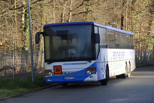 Setra S 319 UL Bentheimer Eisenbahn Wagen 54 mit kenzeichen NOH-BE 154 in Bab Bentheim 16-12-2017
