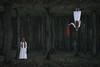 Set Me Free (Nwywre) Tags: fineart dark darkart horror woods forest wald green red whitedress girl blond blind