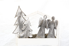 I Wish You A Merry Chritmas (Alfred Grupstra) Tags: woodmaterial white men architecture nopeople decoration old christmas