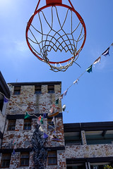 Nothing but net (BrianEden) Tags: za basketball net southafrica travelphotography travel xpro2 flags fuji capetown travelphotographer hoop fujifilm