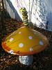 Spots and Stripes (philipbouchard) Tags: mushroom toadstool caterpillar monarch yellow stripes spots ceramic garden chesapeake cityhall virginia