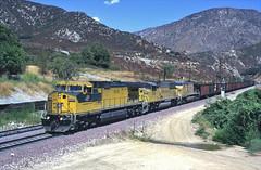 8640 07-09-96 (IanL2) Tags: chicagoandnorthwestern ge 8640 cajonpass california usa railways trains railroad