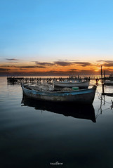 shortly before sunset (dim.pagiantzas | photography) Tags: sunset boats sea seascape seaside seaport landscapes water waterscape colors colorfull blue orange degrade mole reflections nature canon outdoor greece hellas sky clouds summer boat