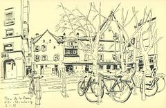 Rue de la Chaîne - Strasbourg (lolo wagner) Tags: croquis sketch usk urbansketchers strasbourg alsace rencontre