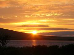 Sunset (stuartcroy) Tags: orkney orphir island sunset loch kirbister scotland scenery sky reflection ripples beautiful