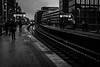 keep the river flowing / a wet and clouded end for a year (Özgür Gürgey) Tags: 2017 35mm bw d750 hamburg nikon rödingsmarkt samyang evening light lines lowlight people station street subway