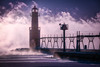 Lighthouse & Sea Smoke - Algoma, WI (neal_grosskopf) Tags: algoma wisconsin unitedstates us