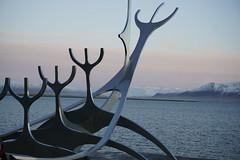 Discovering Iceland (Hannatu) Tags: sculpture viking ship exploration bay reyjkavik iceland