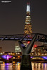 The Shard and The Millennium Bridge (Nigel Blake, 15 MILLION views! Many thanks!) Tags: millennium bridge shard thames london nigelblakephotography nigelblake night dark lights city cityscape