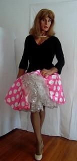 1950s polka-dot skirt
