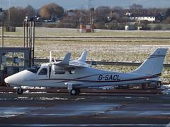 G-SACL Tecnam P2006T (Aircaft @ Gloucestershire Airport By James) Tags: gloucestershire airport gsacl tecnam p2006t egbj james lloyds