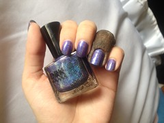 Chega de Mi-Mi-Mi (DRK Nails) (Daniela nailwear) Tags: chegademimimi drknails holográfico roxo troquinha esmaltes mãofeita