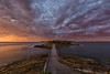 Outpost (Crouchy69) Tags: sunrise dawn landscape seascape ocean sea water coast clouds sky fort fortress fortification bare island la perouse sydney australia