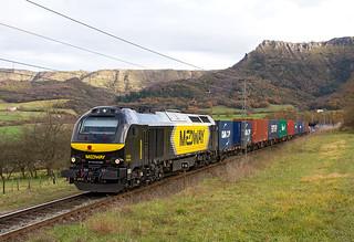 Matilde por Delika a cargo de un TECO de Continental Rail Silla-Bilbao Mercancías
