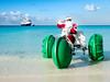 Santa Sighting!! (Ed Rosack) Tags: cruise ocean halfmooncay water ©edrosack bahamas travel msnieuwamsterdam vacation littlesansaladorisland christmas santa santaclaus waterbike beach ship holidays