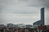 Sky Tower (Andreas Meese) Tags: breslau wroclaw mai frühling spring day tag wolkig cloudy panorama old new alt neu nikon d5100 dächer top roof dach tower skyscraper verfall zerfall decay hochhäuser wohnhäuser kirche church himmel skyline stadt gebäude