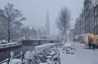 A winter white carpet in Amsterdam