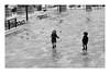 Play with me (Cécile75 - Film only) Tags: street people child children city life urban film argentique analogue ilford zeiss 50mm ville vie enfant rire pluie rain