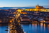 Praha z Mostecké věže (Honzinus) Tags: praha prague prag cz czech čechy česko mostecká věž kralův most vltava hradčany
