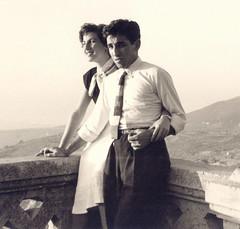 1953, Lebanon: Marjo and Papken (maralina!) Tags: papken father papa dad père marjo mother mama mère fiancés engagement portrait couple love 1950s 1953 beirut beyrouth lebanon liban sepia bw blackandwhite vintage retro