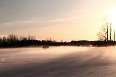 Somewhere (oonajuliar) Tags: nature winter december fields finland sun snow luonto