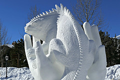Protect Earth from Today (Colorado Sands) Tags: snow sculpture art winter breckenridge colorado usa teammongolia sandraleidholdt lizard hands concept carving protectearthfromtoday ochirboldayurzana khaliunaerdenkhuu tserenbatdashbaljir amarsanaalkhagva